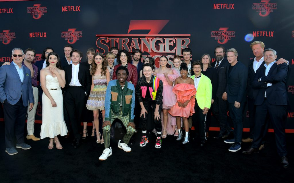 The cast and crew of 'Stranger Things'