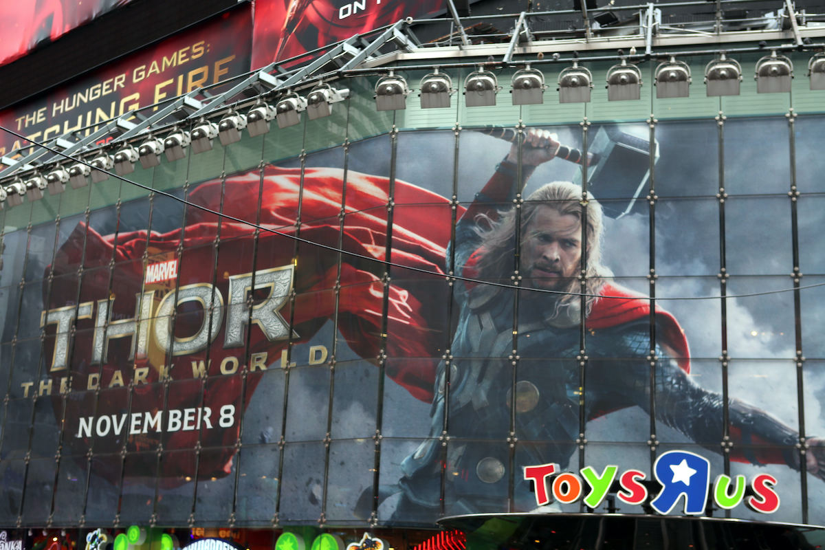 A 'Thor: The Dark World' billboard
