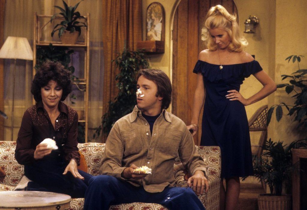 Joyce DeWitt, John Ritter, and Suzanne Somers in 'Three's Company'
