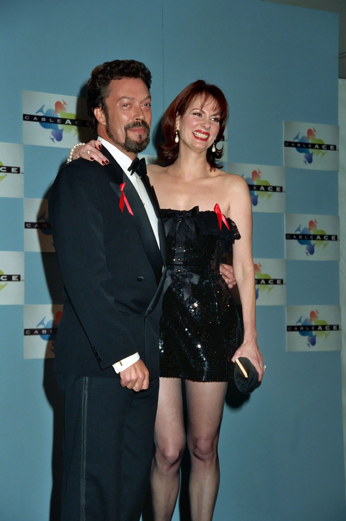 Tim Curry and Lesley Ann Warren, who played Miss Scarlet in 'Clue'