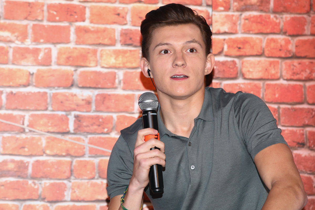 Tom Holland at a 'Spider-Man: Homecoming' fan event