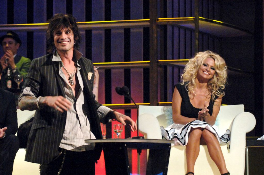 Tommy Lee and Pamela Anderson during Comedy Central Roast of Pamela Anderson - Show at Sony Studios in Culver City, California, United States | Jeff Kravitz/FilmMagic