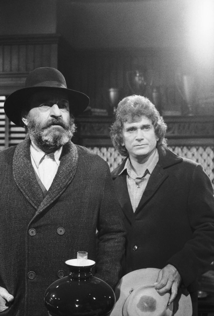 Victor French and Michael Landon of 'Little House on the Prairie'