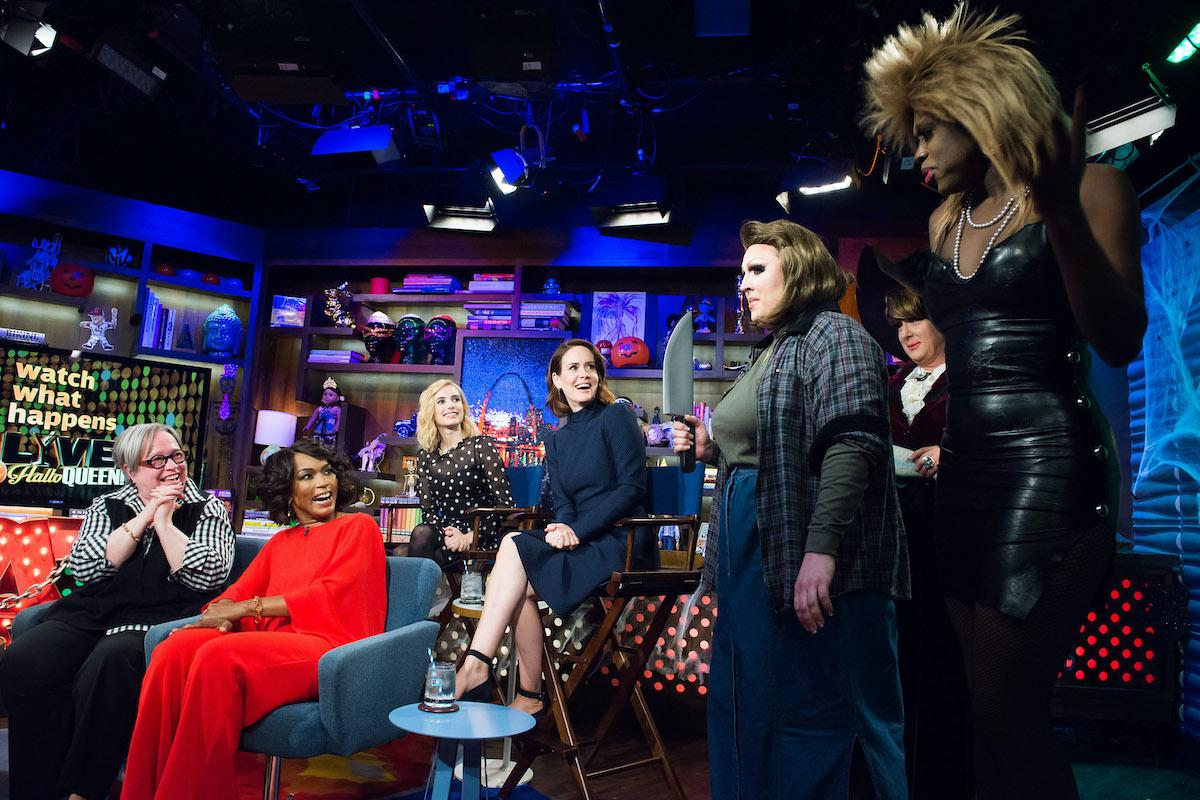 Andy Cohen, Kathy Bates, Angela Bassett, Emma Roberts, and Sarah Paulson