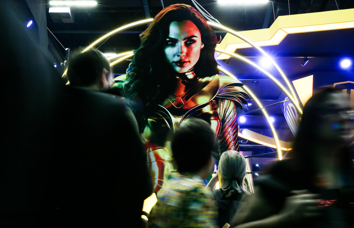 A Wonder Woman backdrop at CCXP 2019 Sao Paulo
