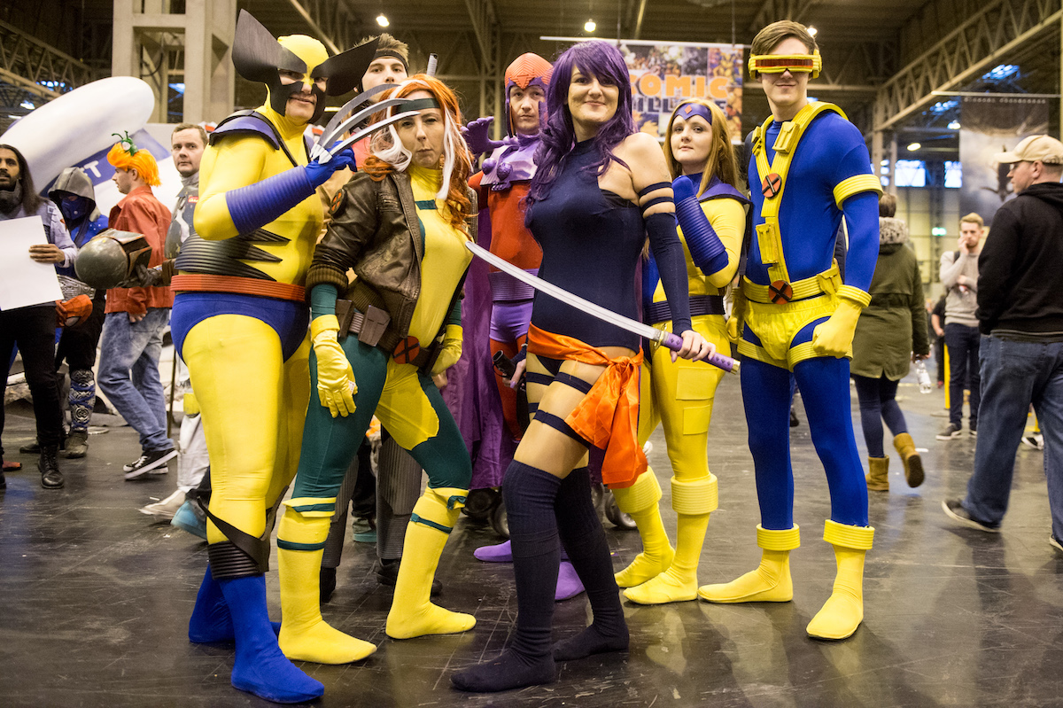 A cosplay team dressed as the X-Men