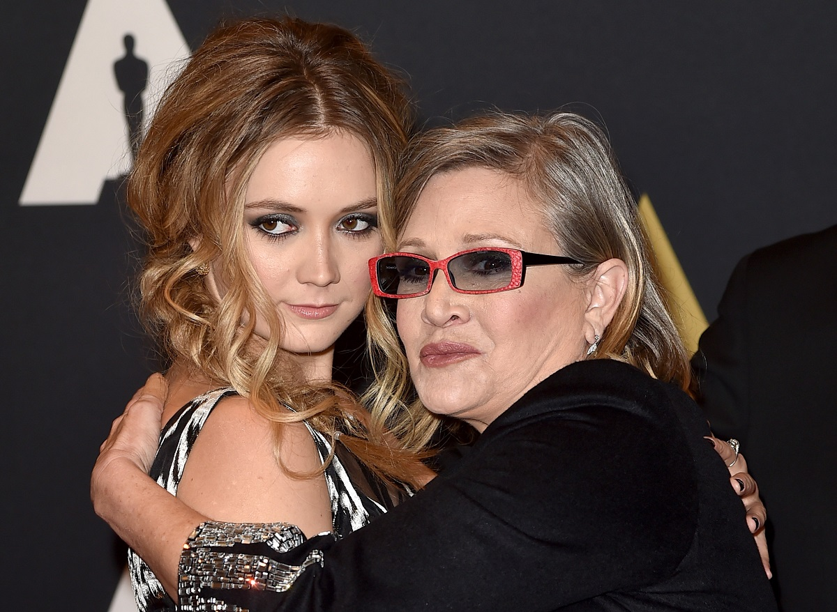 Carrie Fisher (L) and Billie Catherine Lourd attend the Academy of Motion Picture Arts and Sciences' 7th annual Governors Awards on November 14, 2015 in Hollywood, California.