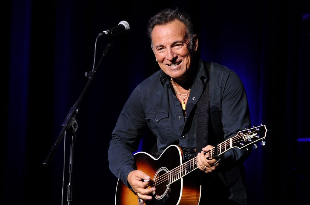 Bruce Springsteen with a guitar