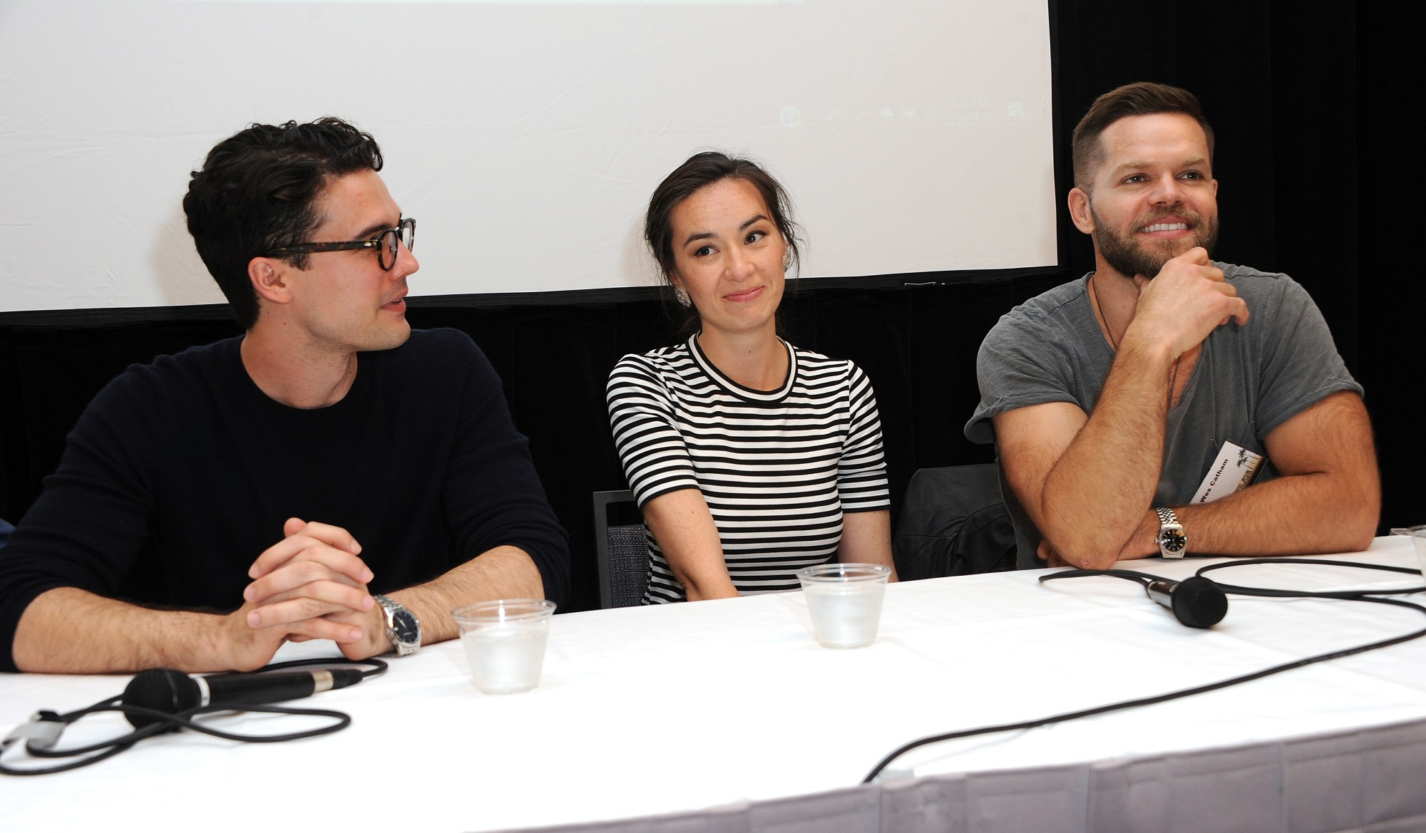 Steven Strait, Cara Gee, and Wes Chatham of The Expanse