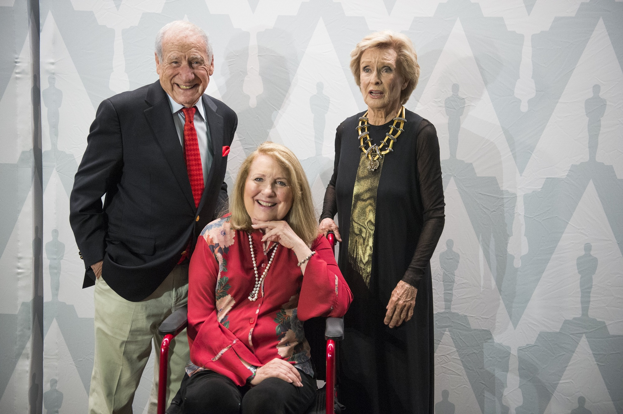 Mel Brooks, Teri Garr, and Cloris Leachman of Young Frankenstein