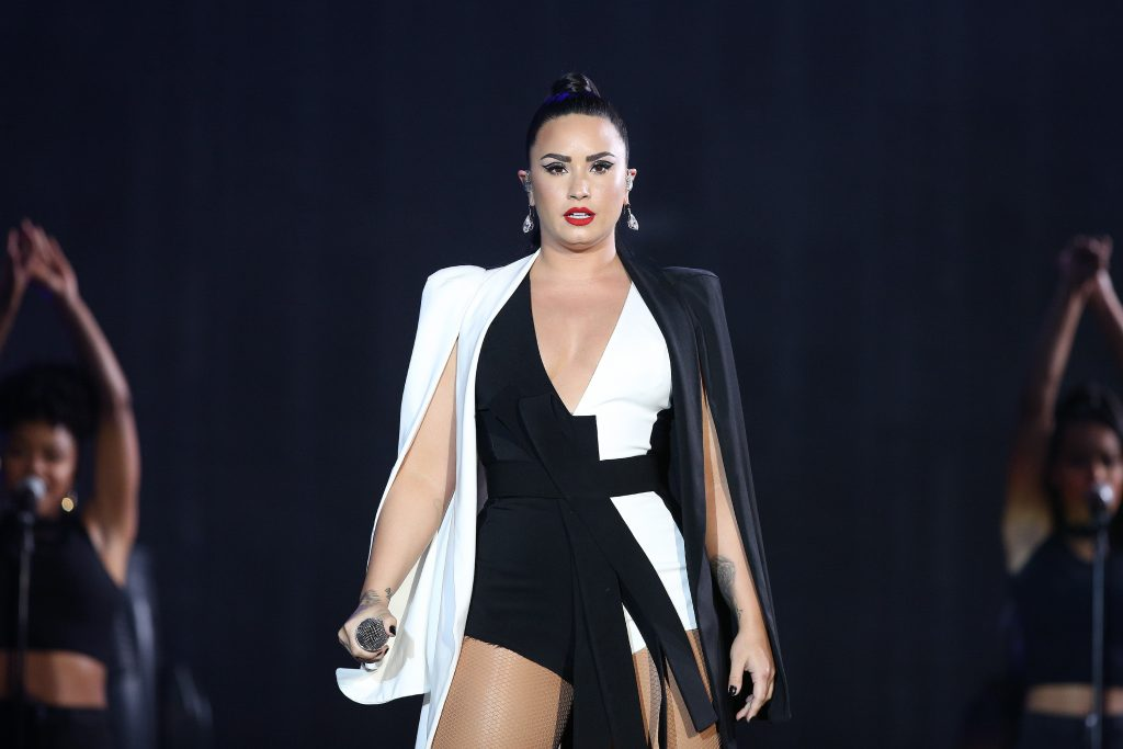 Demi Lovato performs at the Rock in Rio Lisboa 2018 music festival in Lisbon, Portugal, on June 24, 2018.