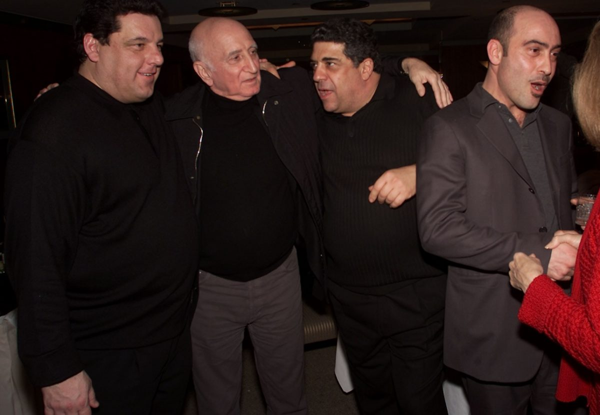 Dominic Chianese with 'Sopranos' co-stars