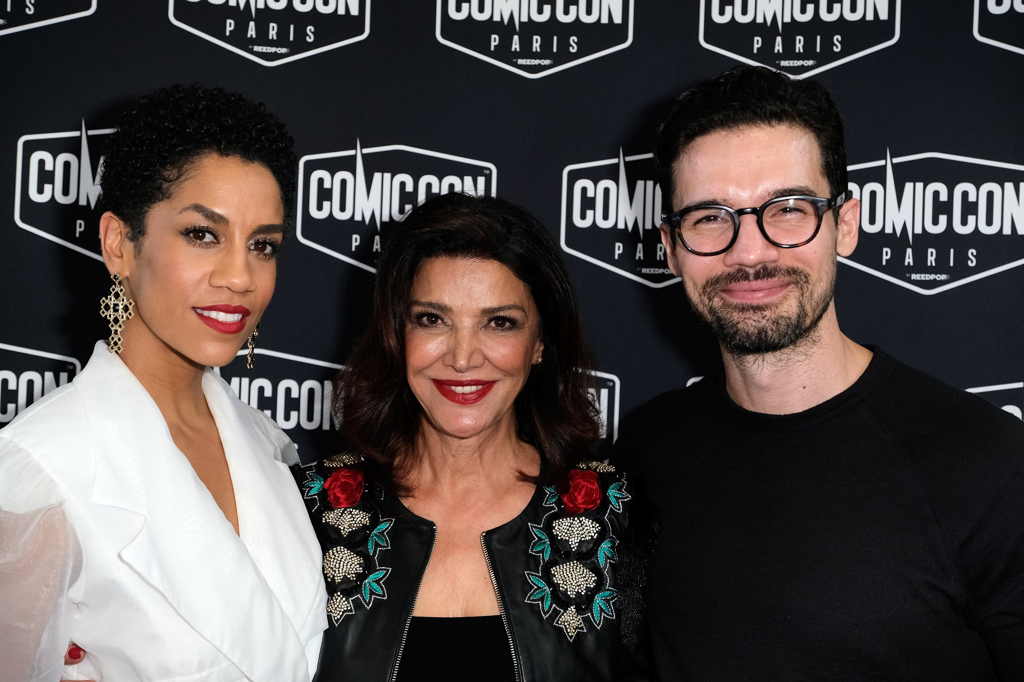 Dominique Tipper, Shohreh Aghdashloo, and Steven Strait  of The Expanse
