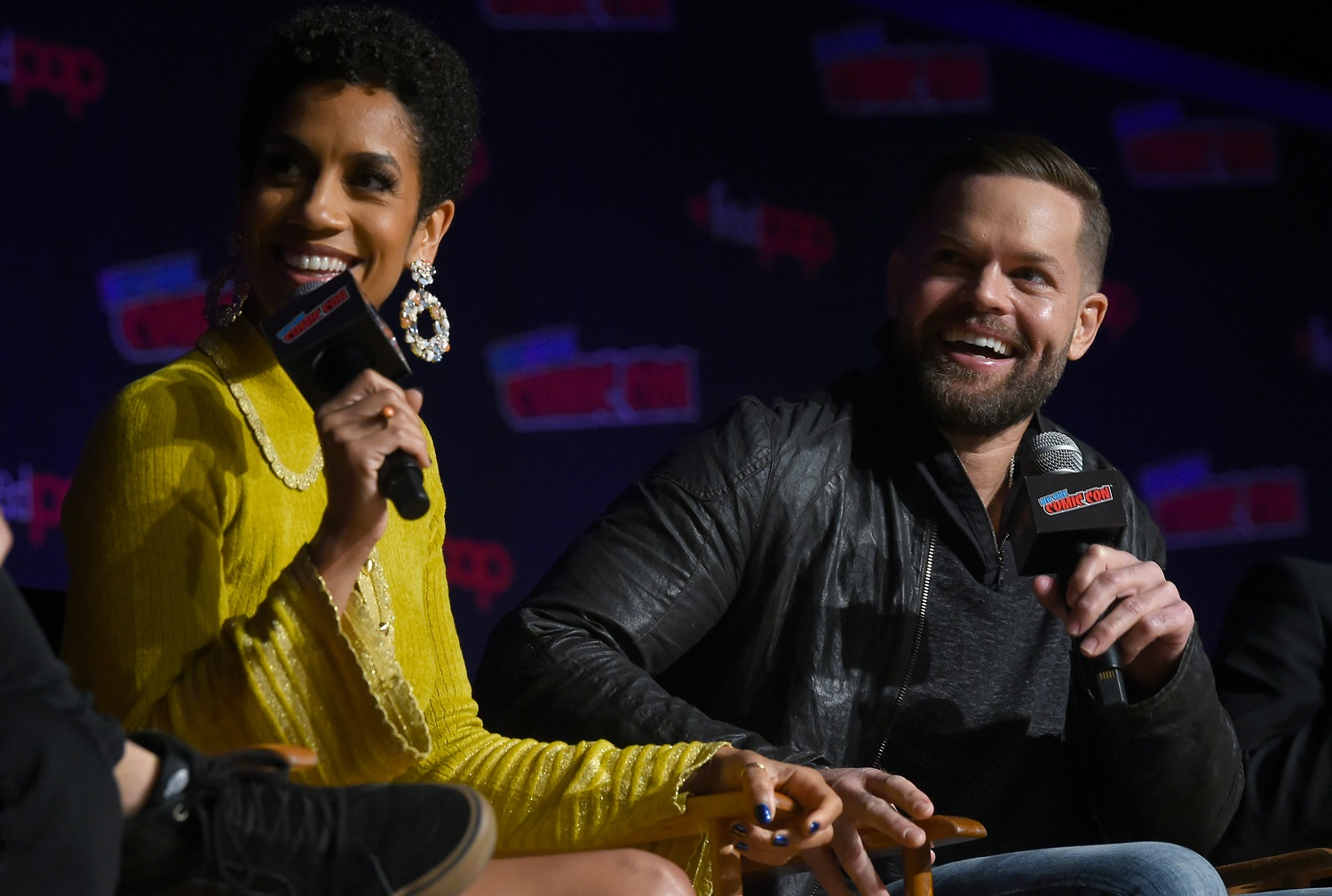 Dominique Tipper and Wes Chatham