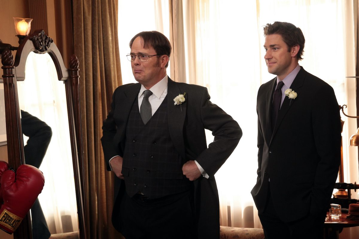 Rainn Wilson as Dwight Schrute and John Krasinski as Jim Halpert on 'The Office'