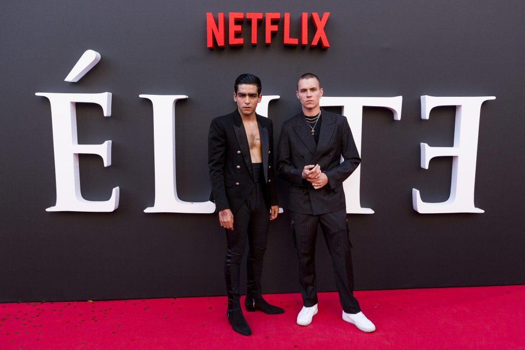 Omar Ayuso and Aron Piper of 'Elite'