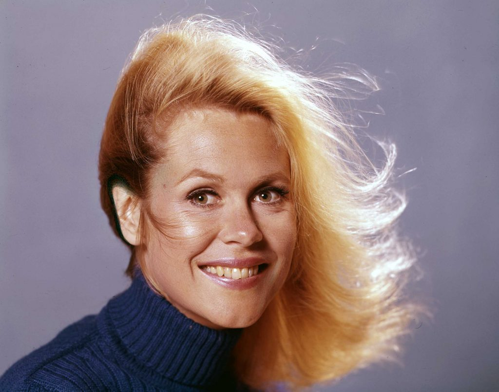 Elizabeth Montgomery with long hair