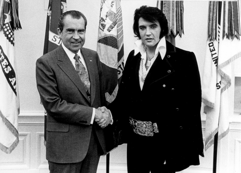 President Richard Nixon meets with Elvis Presley December 21, 1970