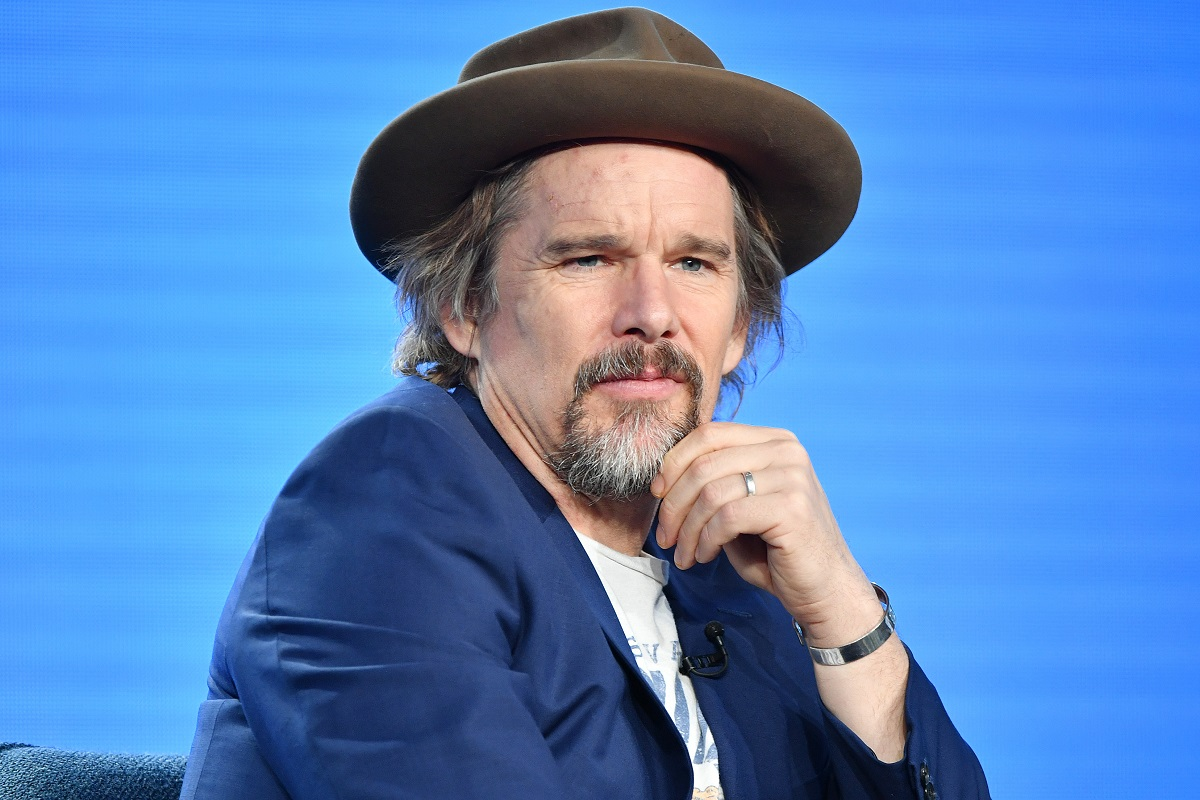 Ethan Hawke of 'The Good Lord Bird' speaks during the Showtime segment of the 2020 Winter TCA Press Tour on January 13, 2020 in Pasadena, California.