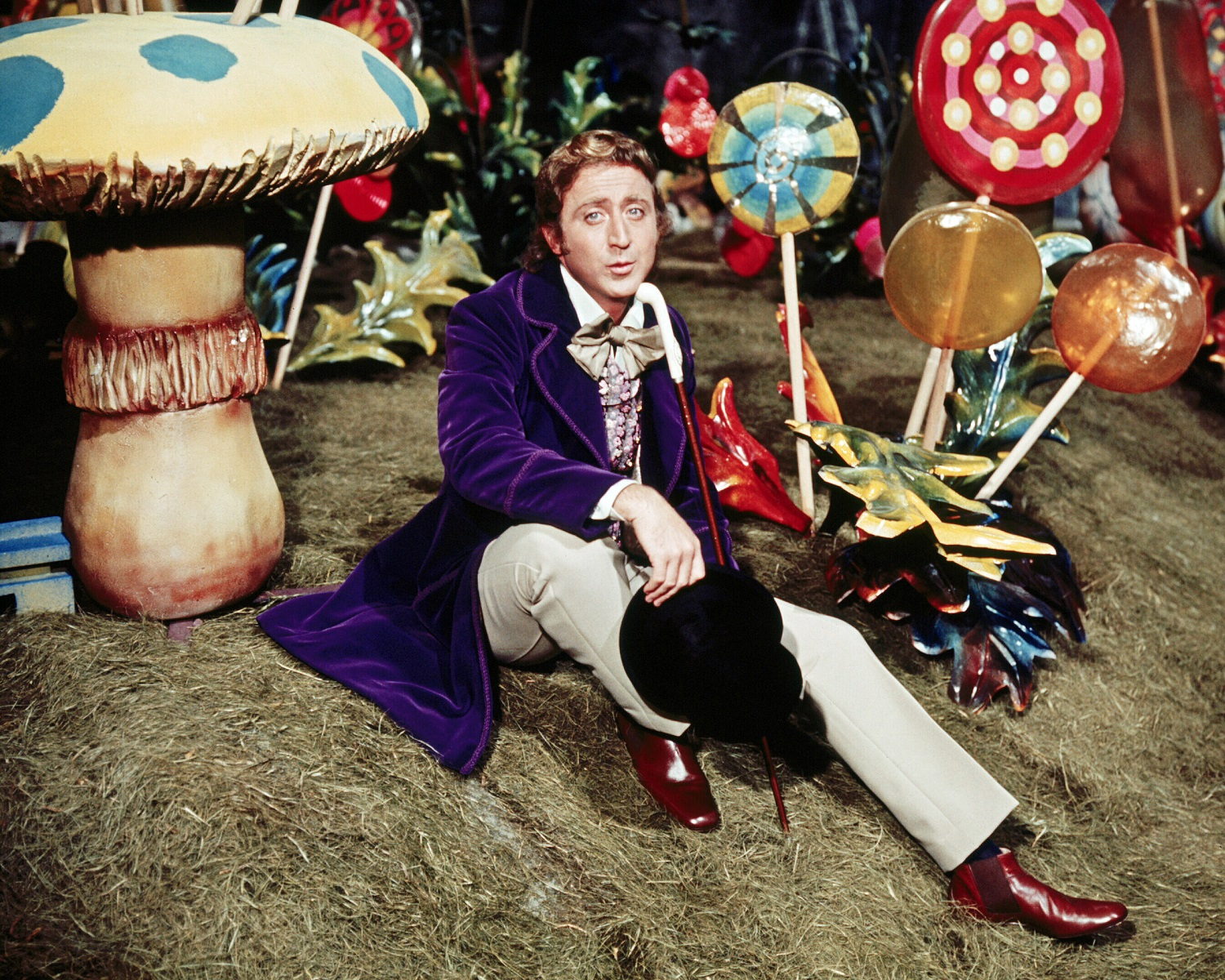 Gene Wilder as Willy Wonka in the film Willy Wonka & the Chocolate Factory