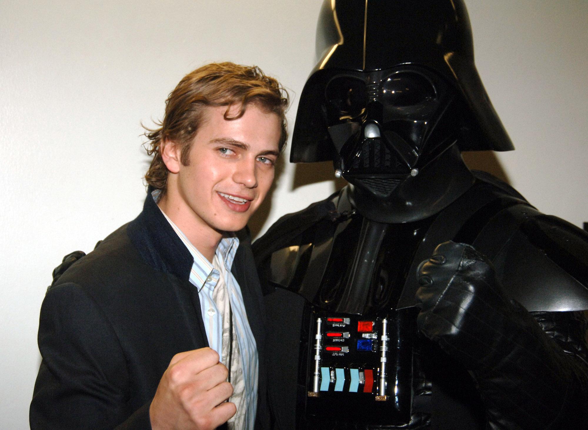 Hayden Christensen and Darth Vader at Nickelodeon's 18th Annual Kids Choice Awards, April 2005