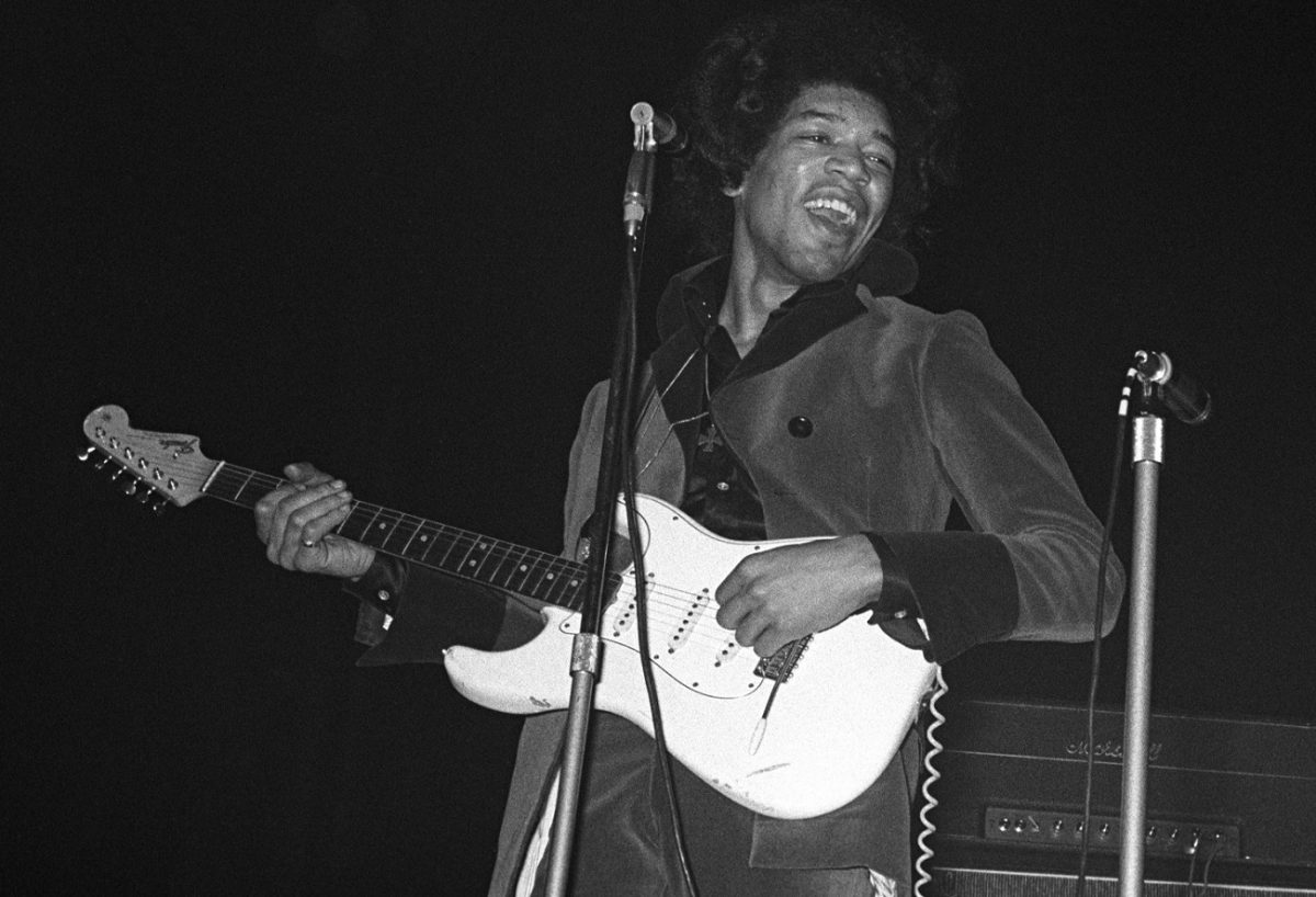 Jimi Hendrix on stage in 1967