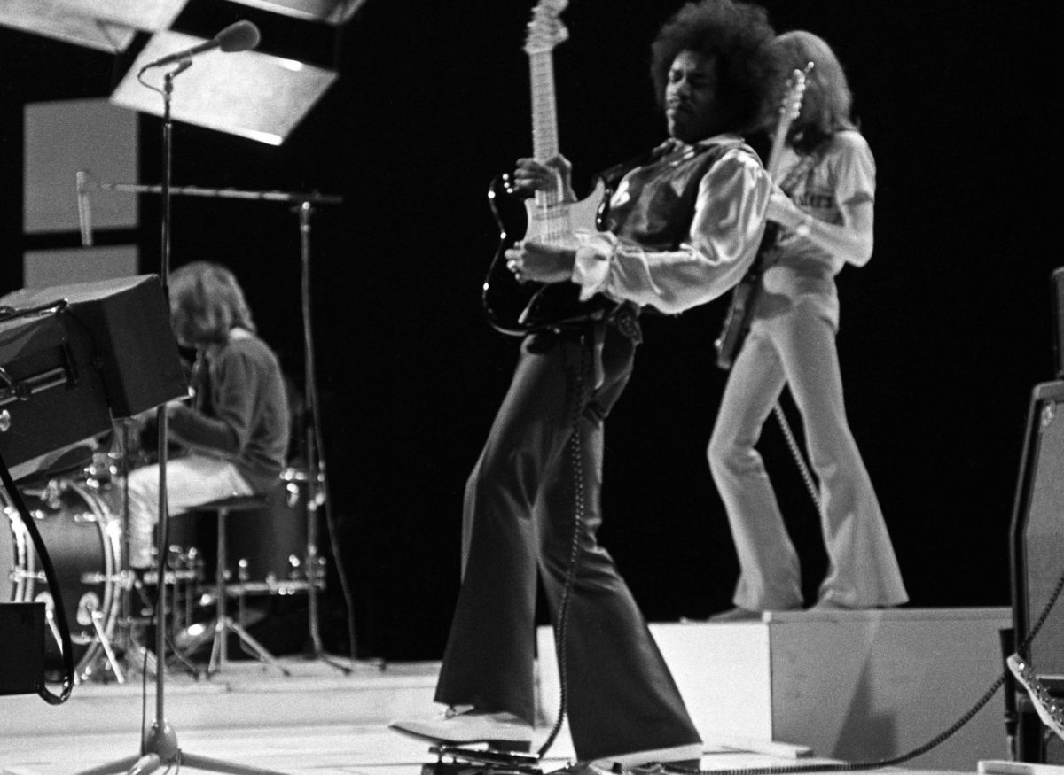 Hendrix Experience performing on TV