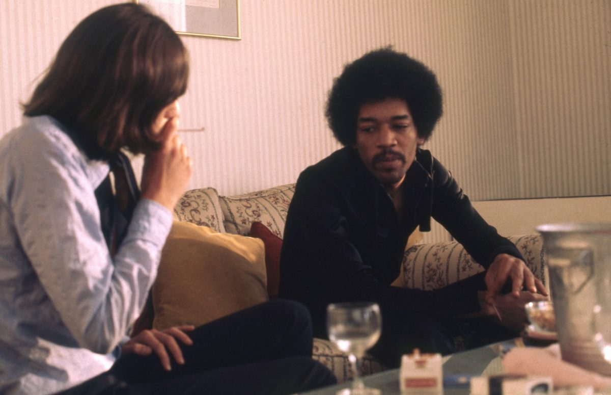 Jimi Hendrix giving an interview