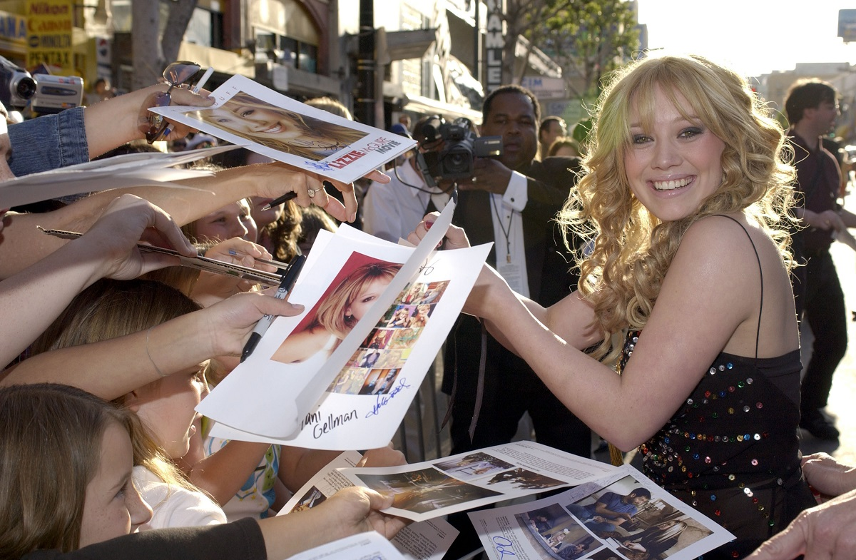 Hilary Duff during The Lizzie McGuire Movie - Premiere in Hollywood, California.