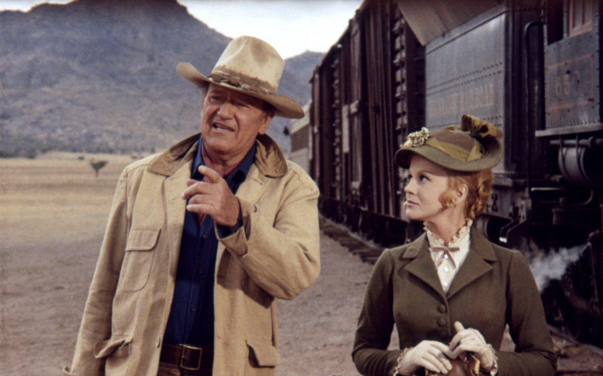 John Wayne and Ann-Margret in The Train Robbers
