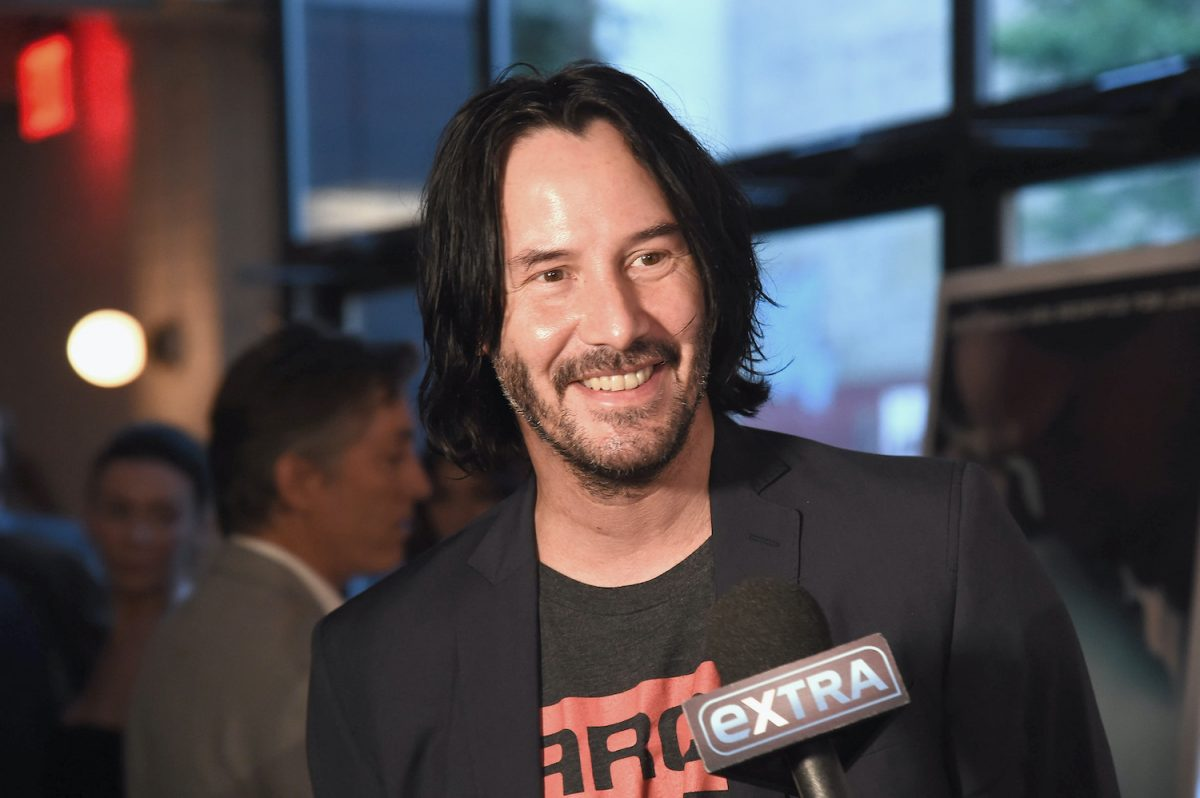 Keanu Reeves attends the 'Siberia' New York premiere on July 11, 2018