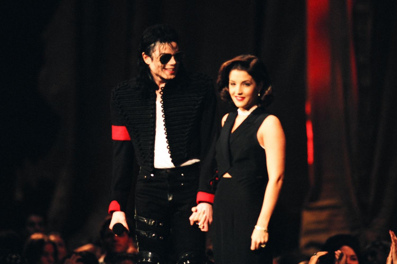 Michael Jackson and Lisa Marie Presley