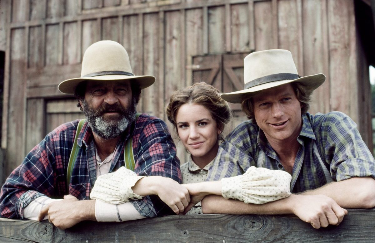 Victor French as Isaiah Edwards, Melissa Gilbert as Laura Elizabeth Ingalls Wilder, and Dean Butler as Almanzo James Wilder on 'Little House on the Prairie'