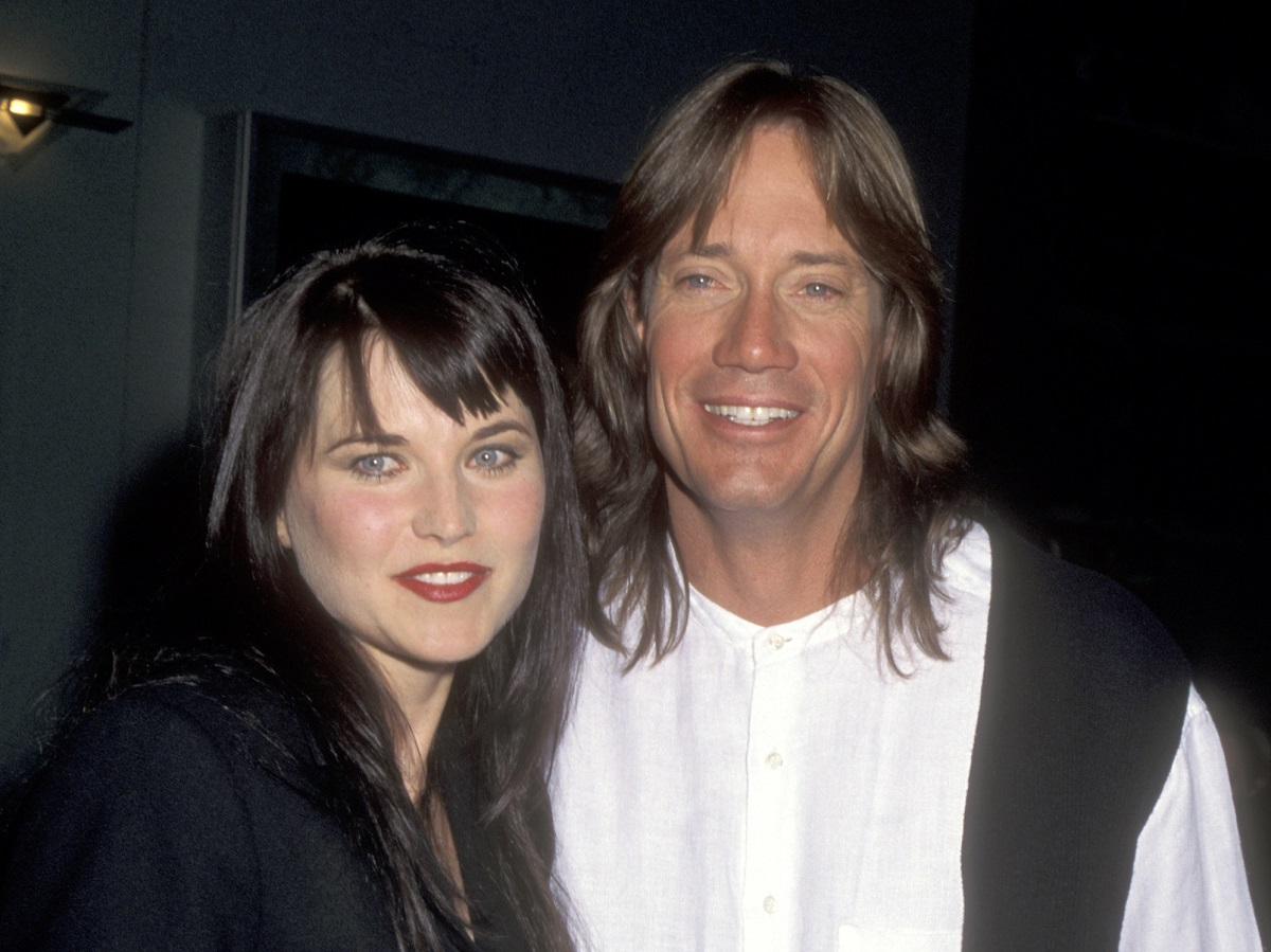 Lucy Lawless and Kevin Sorbo on January 22, 1996