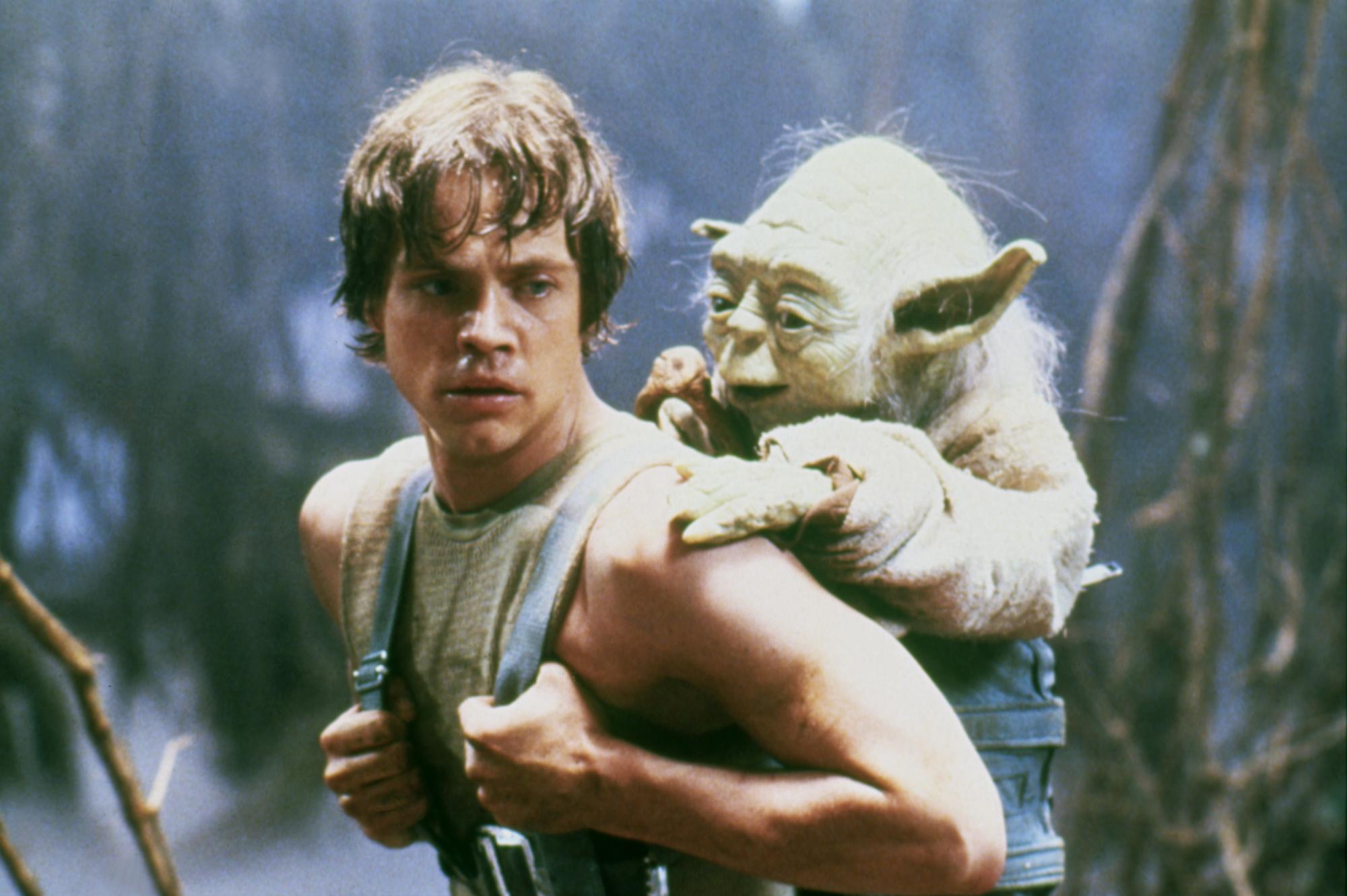 Mark Hamill on the set of 'Star Wars: Episode V - The Empire Strikes Back' directed by Irvin Kershner