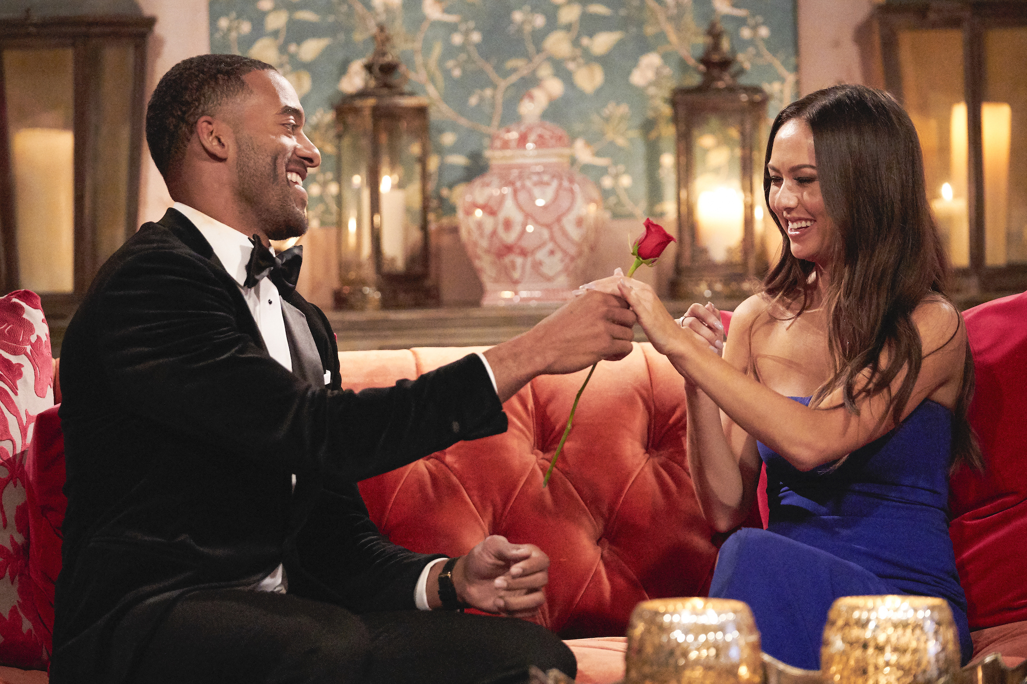 Matt James and Abigail Heringer on the first episode of 'The Bachelor'