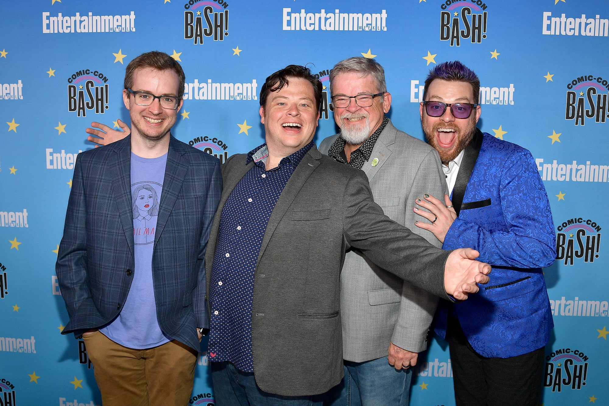 Griffin McElroy, Justin McElroy, Clint McElroy, and Travis McElroy of My Brother, My Brother and Me