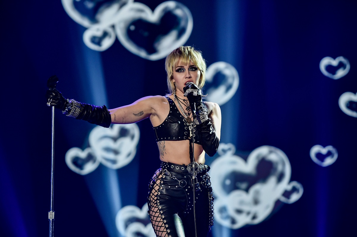 Miley Cyrus performs at Dick Clark's New Year's Rockin' Eve with Ryan Seacrest 2021 broadcast on December 31, 2020 and January 1, 2021.