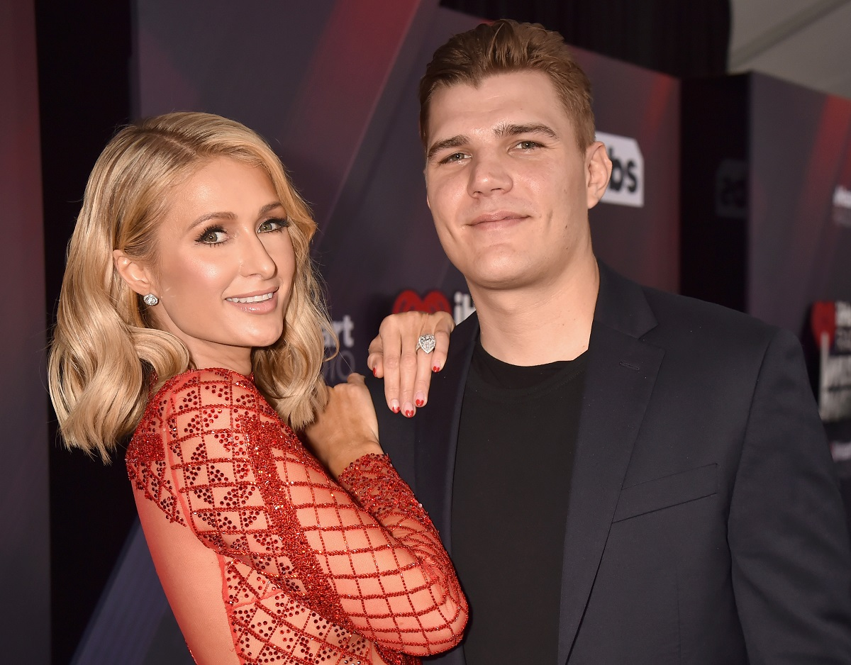 Paris Hilton and Chris Zylka on March 11, 2018 in Inglewood, California.