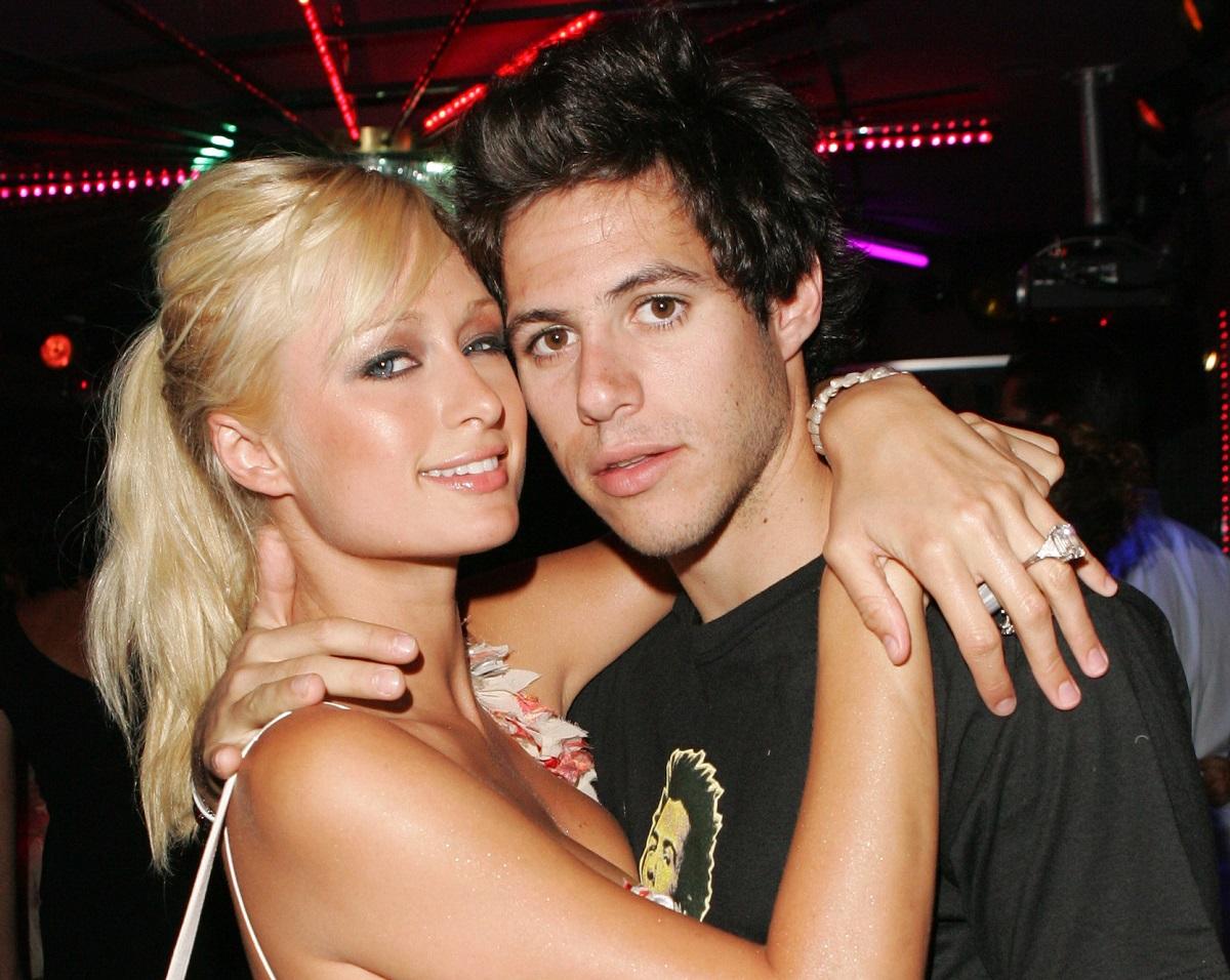 Paris Hilton and Paris Latsis on July 23, 2005, in Saint Tropez, France.