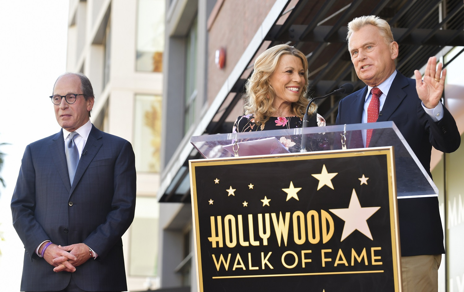 Harry Friedman, Pat Sajak, and Vanna White