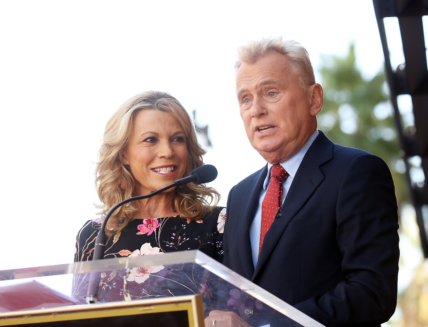 Vanna White and Pat Sajak of Wheel of Fortune