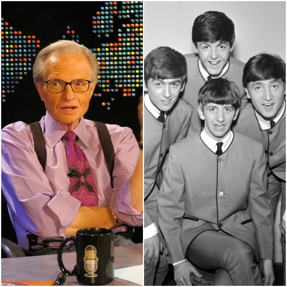 (L to R): Larry King and The Beatles