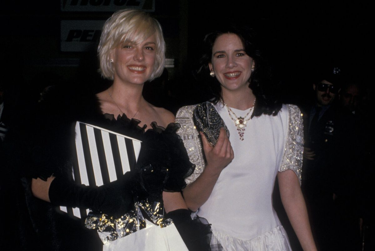 """Katie Wagner and Melissa Gilbert during """"Hooray For Hollywood"""" AIDS Benefit - April 5, 1988"""