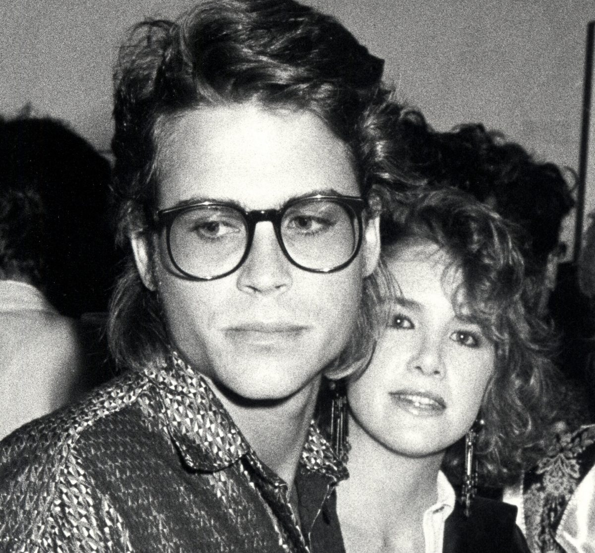 Rob Lowe and Melissa Gilbert at the opening exhibit for photographer Gregg Gorman