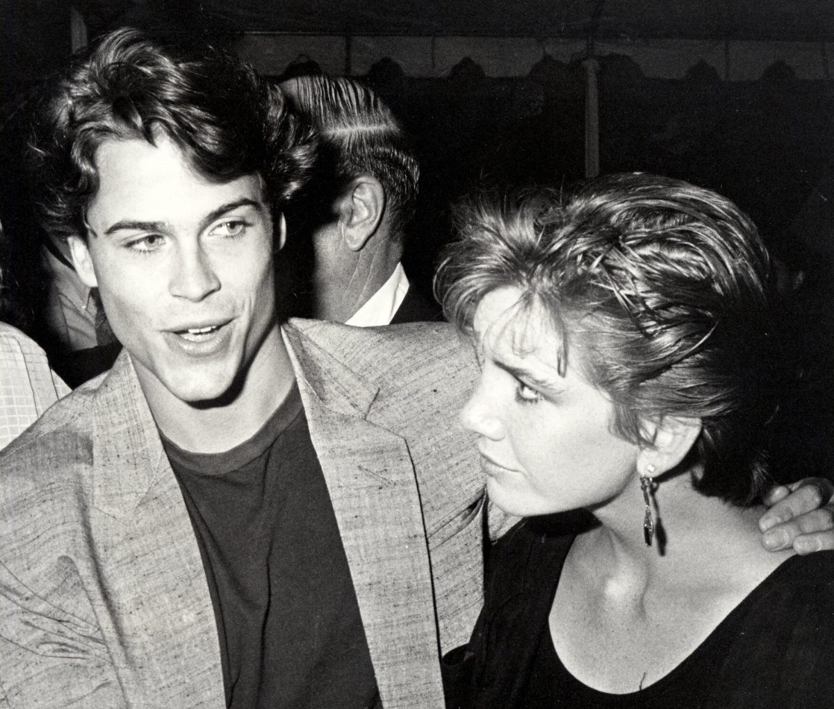 """Rob Lowe and Melissa Gilbert during """"Ghostbusters"""" Los Angeles Premiere at Avco Theaters in Westwood, California"""