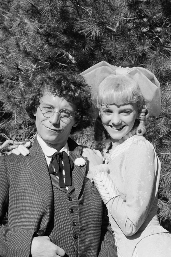 Steve Tracy as Percival Isaac Cohen Dalton and Alison Arngrim as Nellie Oleson Dalton on Little House on the Prairie