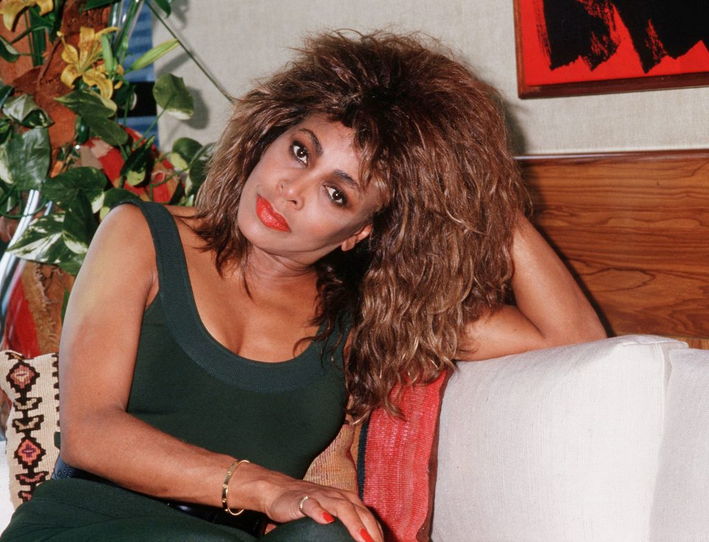 Tina Turner on a couch