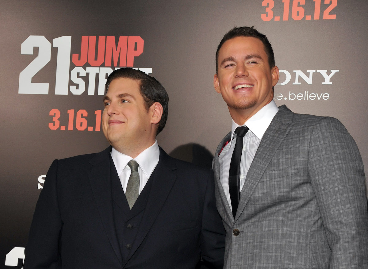 Jonah Hill and Channing Tatum at the '21 Jump Street' premiere