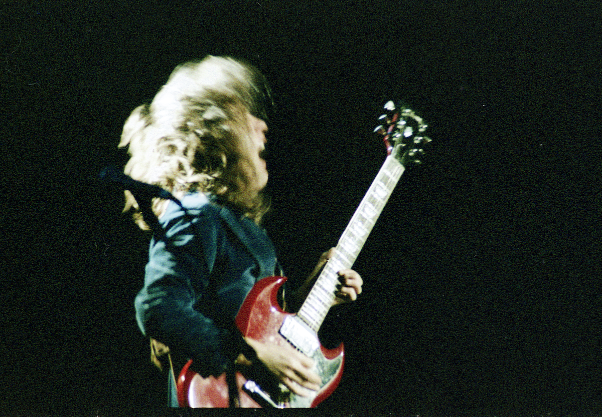 Angus Young lead guitarist of AC/DC